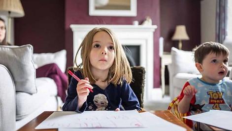 Home-schooling children