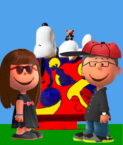 Jeff, L.B. & Me with Snoopy!