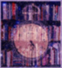 "This is a shelfie, superimposed with stars and an antique pocket watch. The photo is by Linda Eve Diamond, taken to accompany the cento poem, ""Sailing Through the Poetverse"" (which features lines by Rumi, Leonard Cohen, Dr. Seuss, Maurice Sendak, Wislawa Szymborska, Tom Waits, W.S. Merwin, Dorothy Parker, Pablo Neruda, Emily Dickenson, Sylvia Plath, Jack Kerouac, Lorca, Czeslaw Milosz..."