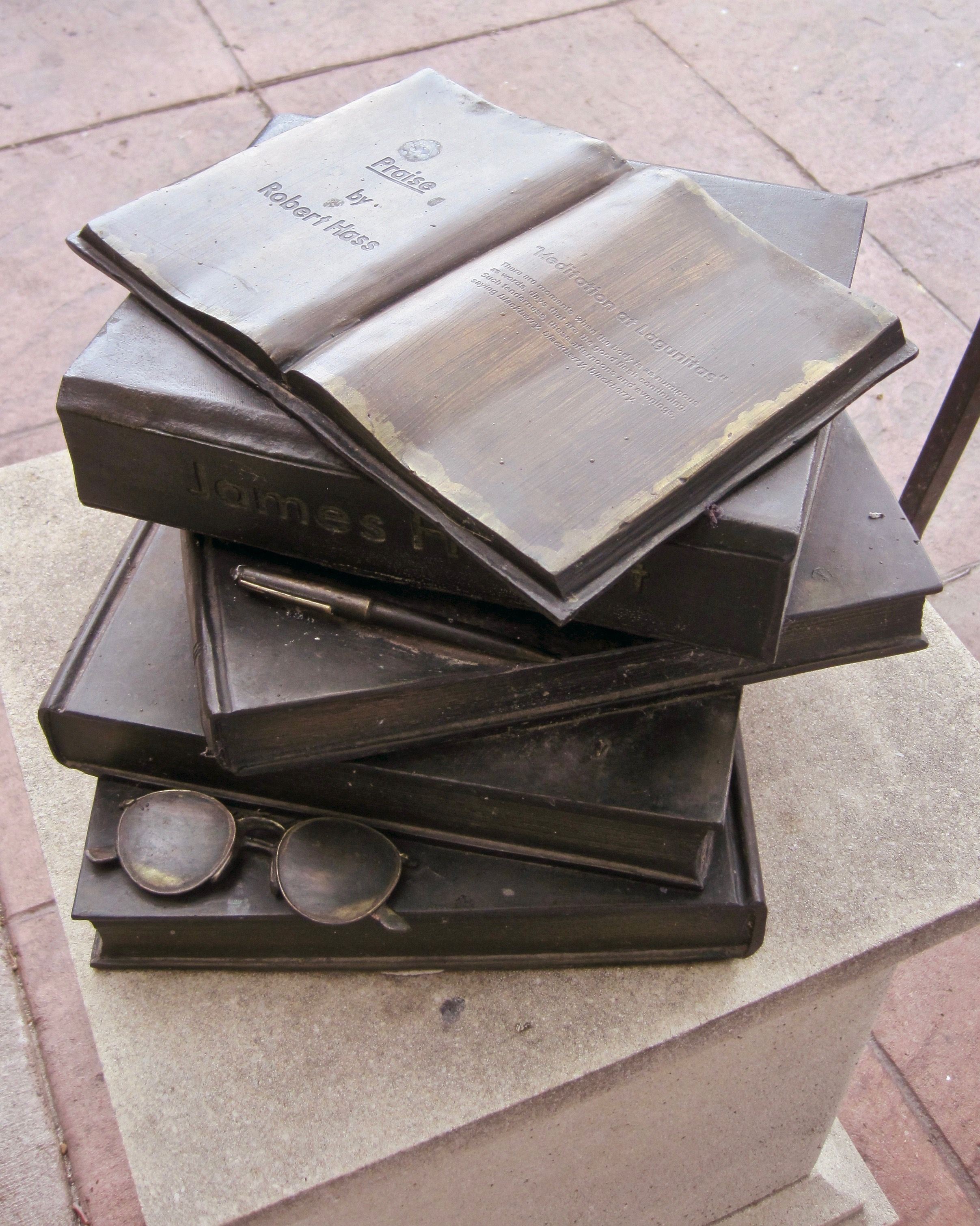 Sidewalk Book Stack