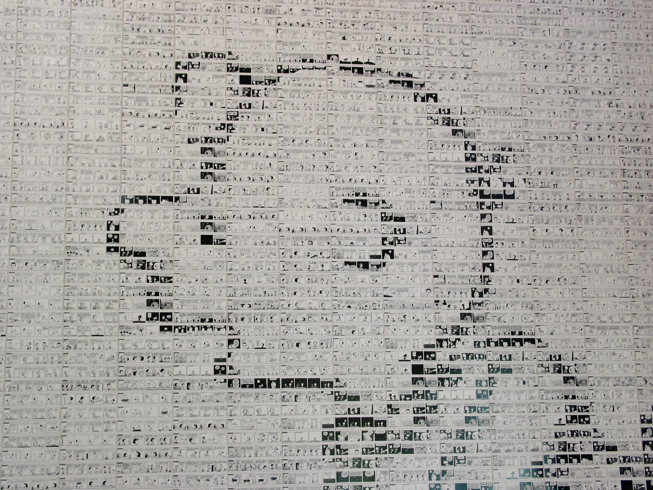 Peanuts Tile Mural (Close-Up)