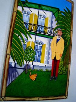 Portrait with Cat (in  the studio)