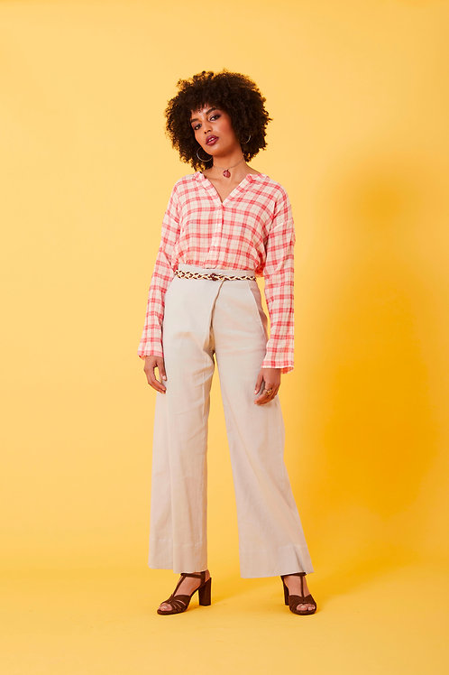 Pantalone misto lino
