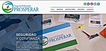 Página Web Grupo de Profesionales Prosperar