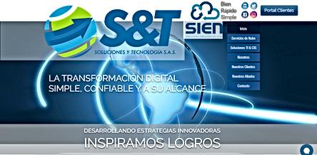 Página Web Souciones y Tecnología