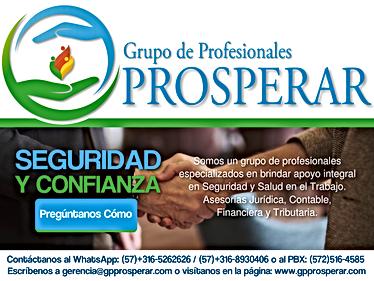 Flyer Grupo de Profesionales Prosperar