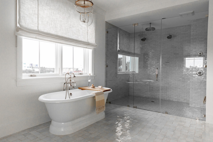Lalique Pointe Master Bath and Shower