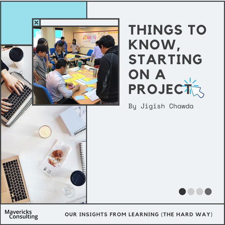 Things to know, starting on a project