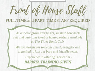 Front of House Staff Required