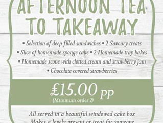 Afternoon Tea to takeaway at The Three Roofs Cafe