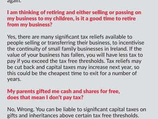 Business Matters, Q&A 1/2