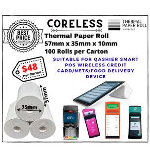 Qashier Thermal Paper Roll 57mm x 35mm
