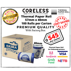 Nets Thermal Paper Roll 57mx40mm (Can use on Grabfood/Foodpanda/Deliveroo/Credit Card/Nets Devices)