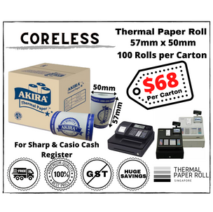Thermal Paper Roll 57mm x 50mm