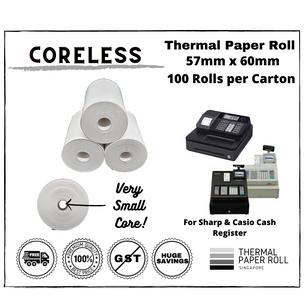 Cash Register Thermal Paper Roll 57mm x 60mm