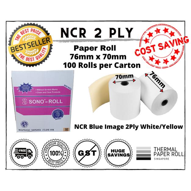 2 Ply NCR Carbonless Paper for DOT Matrix Printers