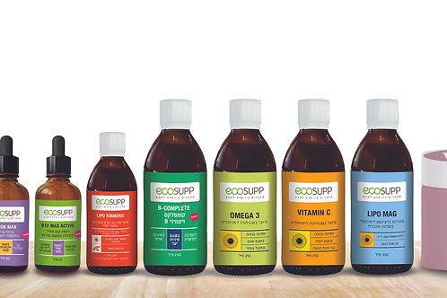 תוספי אקוסאפ EcoSupp - מחברים בין מדע לטבע