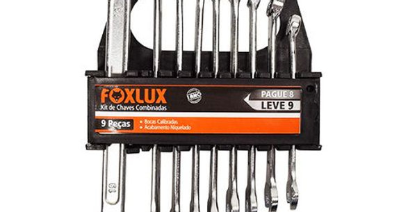FOXLUX - JG CHAVE COMBINADA 08/19 09PÇS