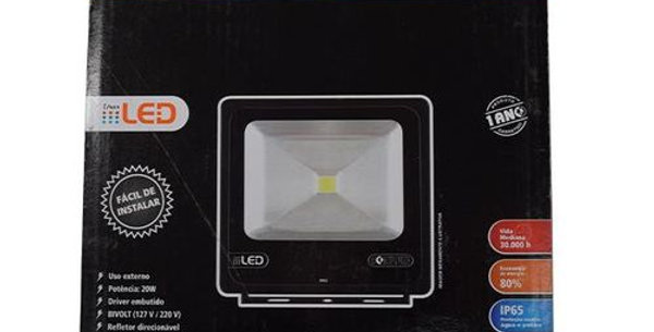 FOXLUX - REFLETOR LED 20W ALUM