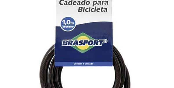 BRASFORT - CADEADO BIKE SEGREDO 08MMX1,00M