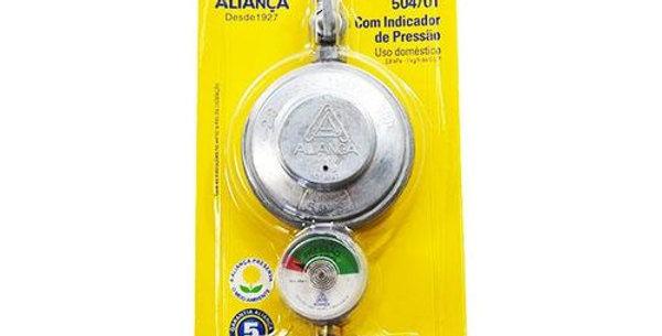 ALIANÇA - REGULADOR GAS 504/1 MED C/ MANOMETRO