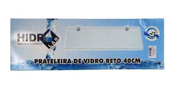 HIDROLAR - PRATELEIRA RETA VIDRO/METAL 40X10CM