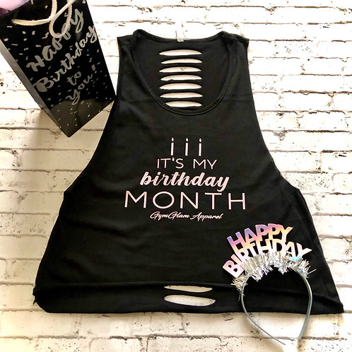 It's my BIRTHDAY month Ripped Back Crop Tank