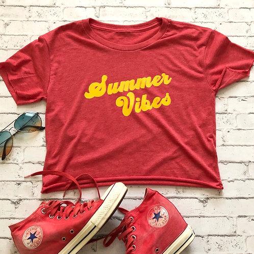 Summer Vibes Crop Tee