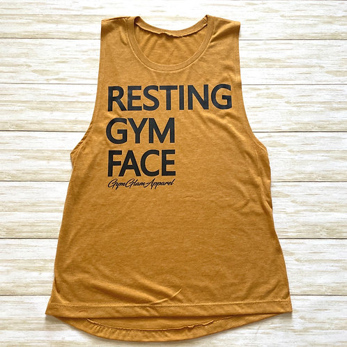Resting Gym Face Women's  Muscle Tank