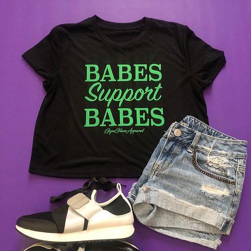 Babes Support Babes Flowy Crop Tee