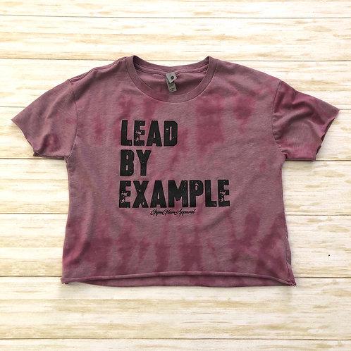 Lead By Example Reverse Tie-Dye Cropped Tee