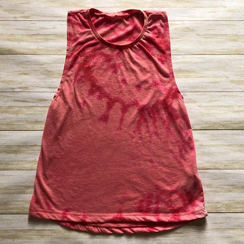 Reverse Tie Dye Women's Muscle Tank