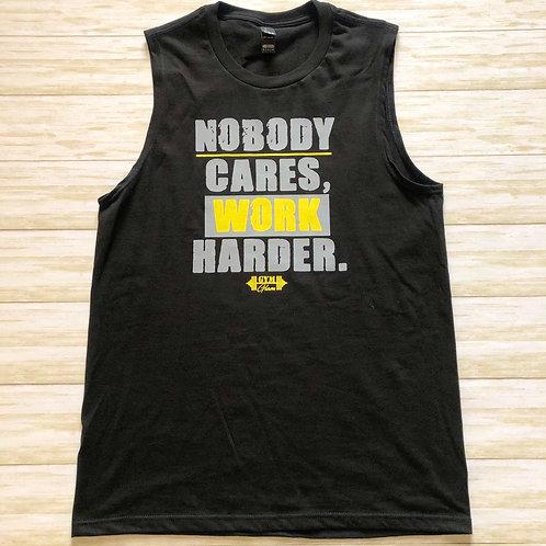 Nobody Cares, Work Harder Men's Muscle Tank