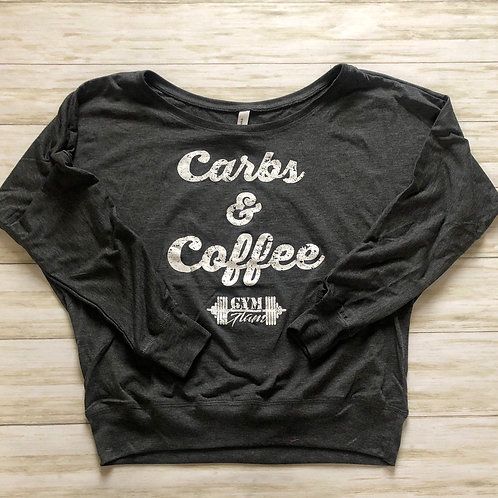 Carbs & Coffee Long Sleeve Flowy Top