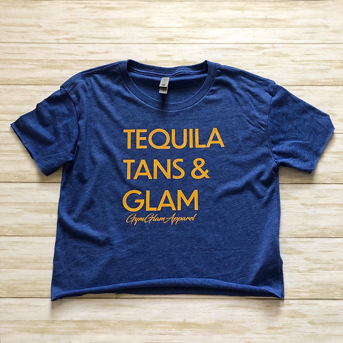 Tequila, Tans & Glam Crop Tee