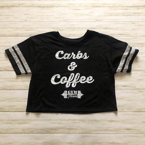 Carbs & Coffee Scorecard Crop Tee