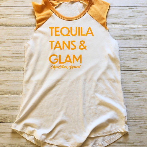 Tequila, Tans & Glam Sleeveless Raglan
