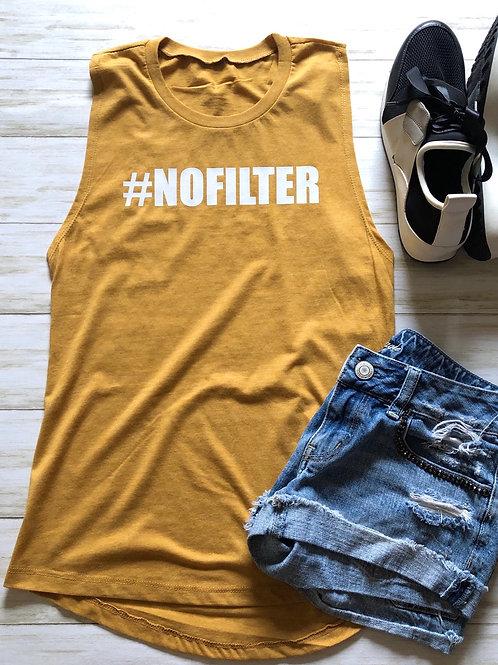 #NOFILTER Mustard Muscle Tank