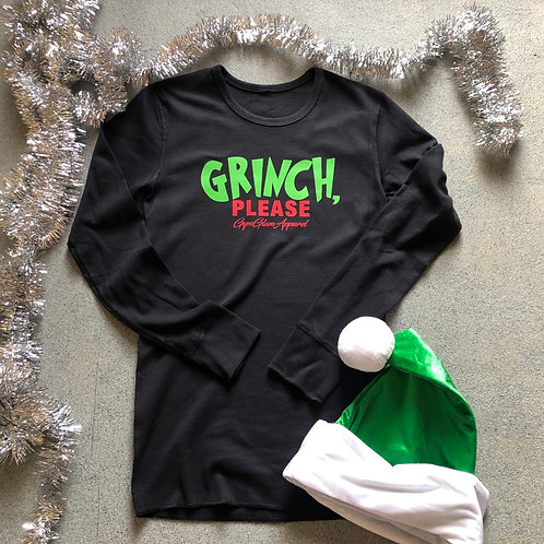 Grinch, Please Unisex Long Sleeve Thermal