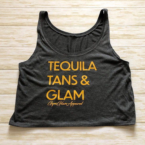 Tequila, Tans & Glam Flowy Boxy Crop