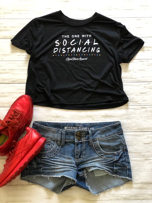 The One With Social Distancing Flowy Crop Tee