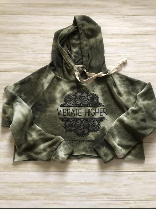 Vibrate Higher Tie Dye Cropped Hoodie