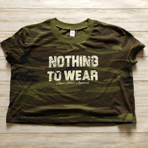 NOTHING TO WEAR Camo Cropped Tee