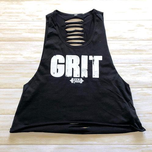 GRIT Slashed Back Crop