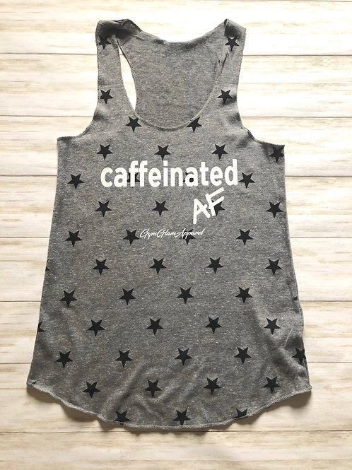 Caffeinated AF Stars Racerback Tank