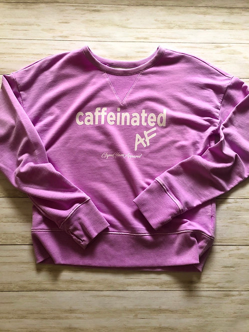 Caffeinated AF French Terry Long Sleeve Top