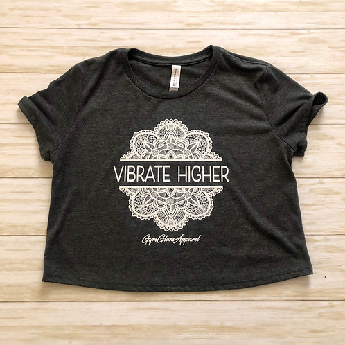Vibrate Higher Flowy Cropped Tee