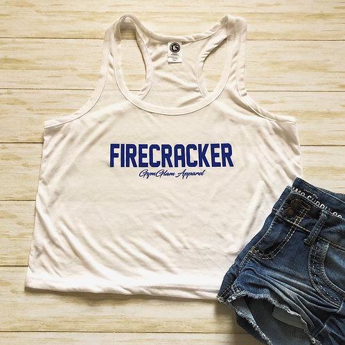 FIRECRACKER Flowy Racerback Crop