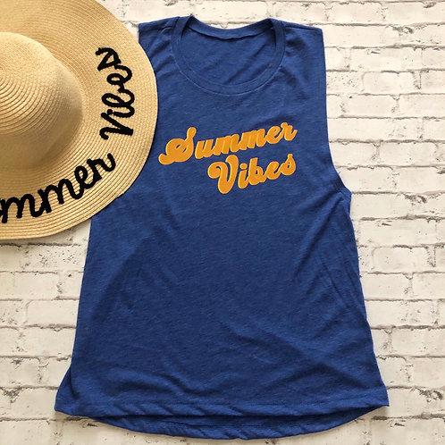 Summer Vibes Women's Muscle Tank