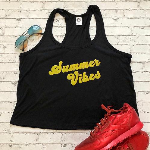Summer Vibes Flowy Racerback Crop